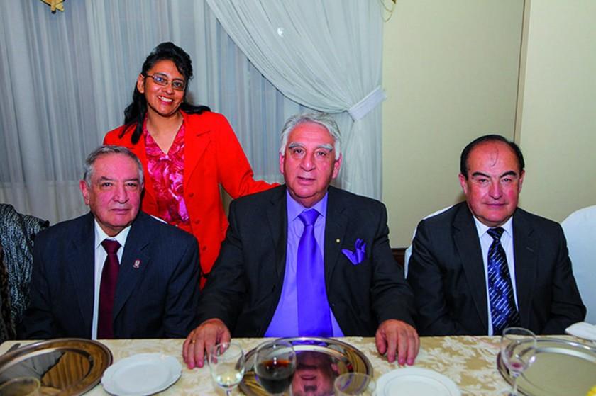 Germán Terrazas, Pilar de Rendón, Horacio Toro y Gonzalo Taboada.