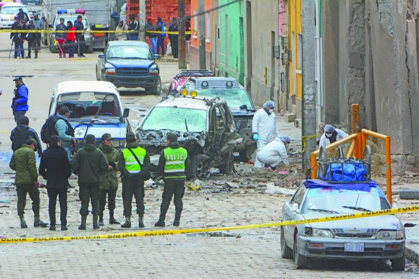 luto. Dos atentados druante las fiestas de carnaval dejaron zozobra y dolor en la población orureña.