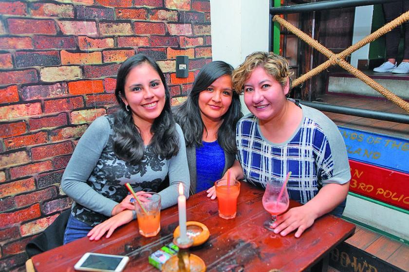 Noelia Michel, Noelia Valda y Leslie Romero.