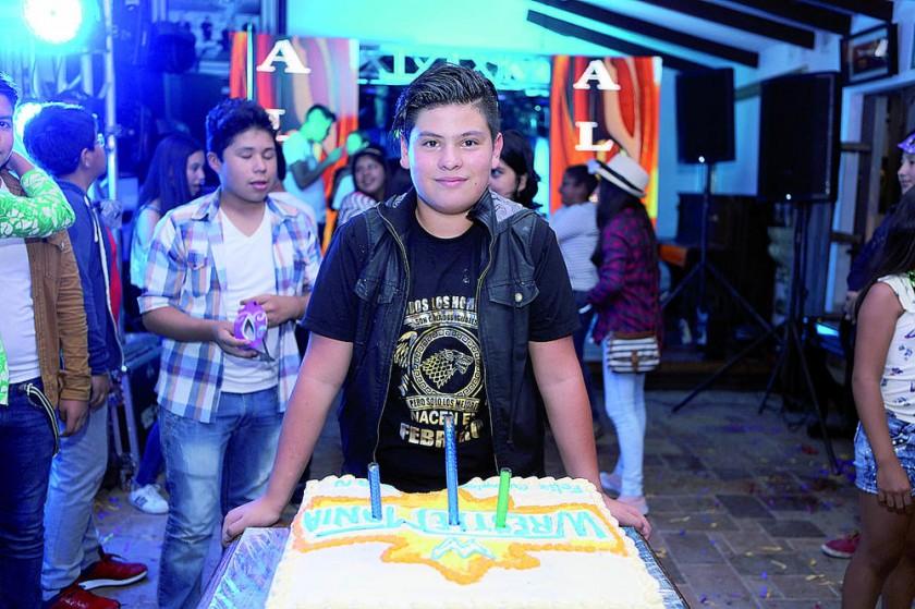 El cumpleañero Alan Quispe Campero.