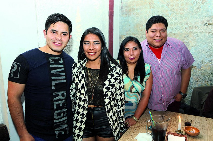 Ibrahim Valenzuela, Anabel Rodríguez, Melisa Acuña y Andres Serrudo.