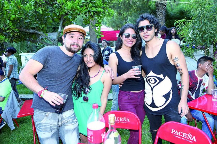 Fernando Barrero, Maita Borja, Ricky Nivas y Andreé Riera.