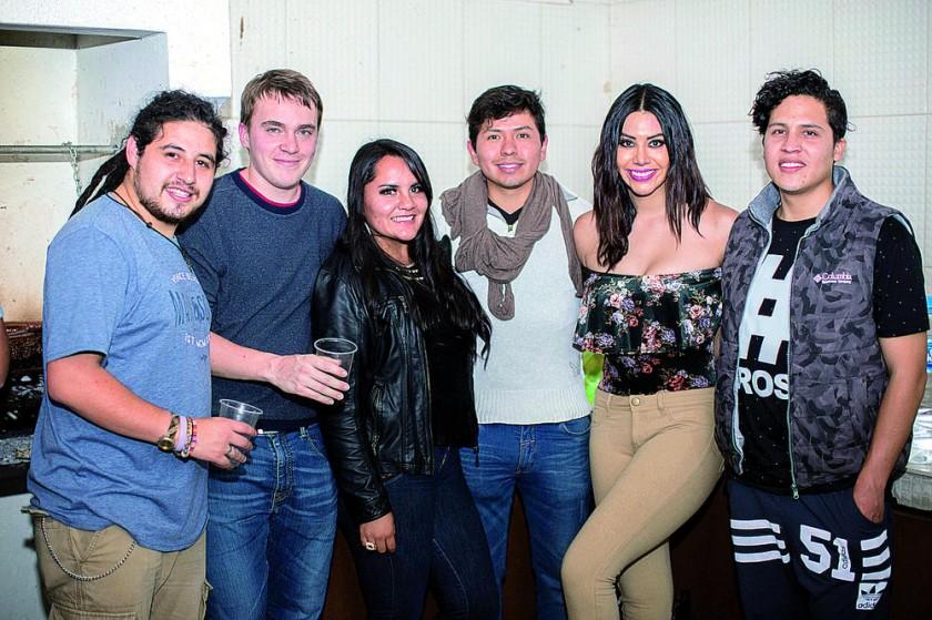 Fabián Villagómez,  Sigurd Bernt,  Viviana Rosado, Marco Valdivia,  Nicole León  y Mijaíl Garrón.