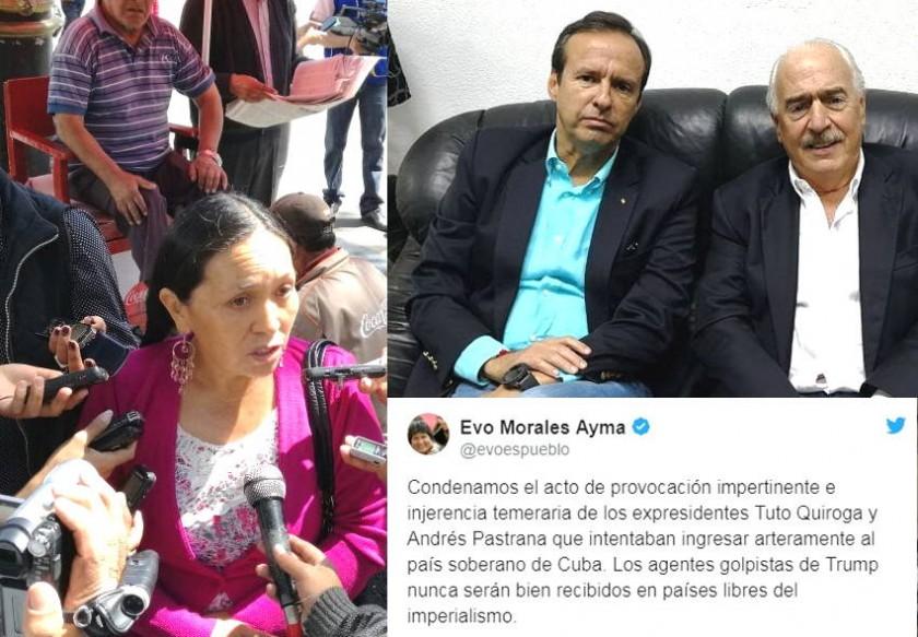 La ex candidata a la Vicepresidencia, Tomasa Yarhui, se refirió a lo sucedido con Tuto Quiroga. Fotos: Archivo