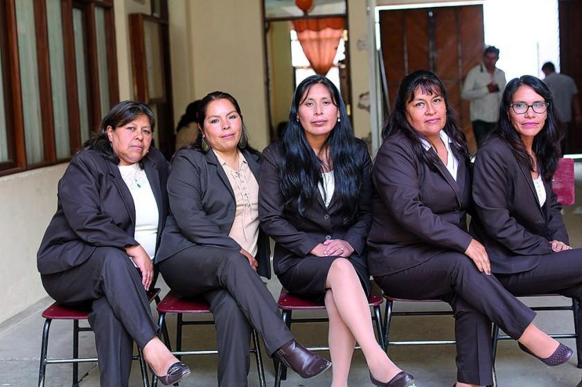 Gioconda Vera, María Durán, María Pascual, Ester Rocha y Nesly Arandia.