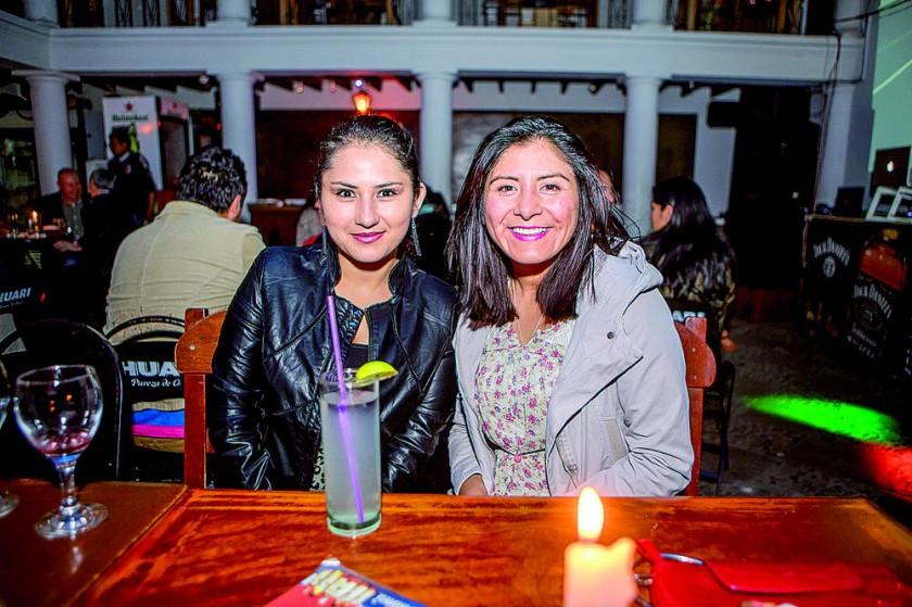 Marcela Calderón y Angélica Calla