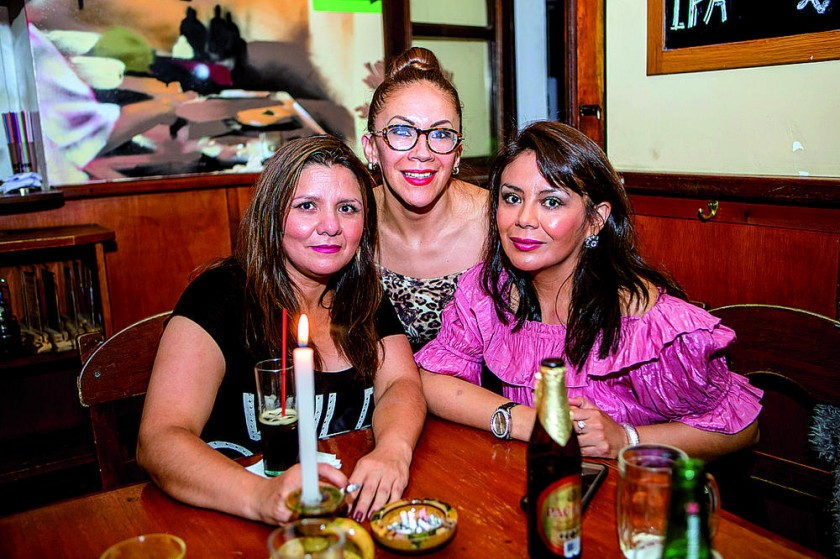 Ximena Salazar, Verónica Heredia y Tatiana Chumacero.