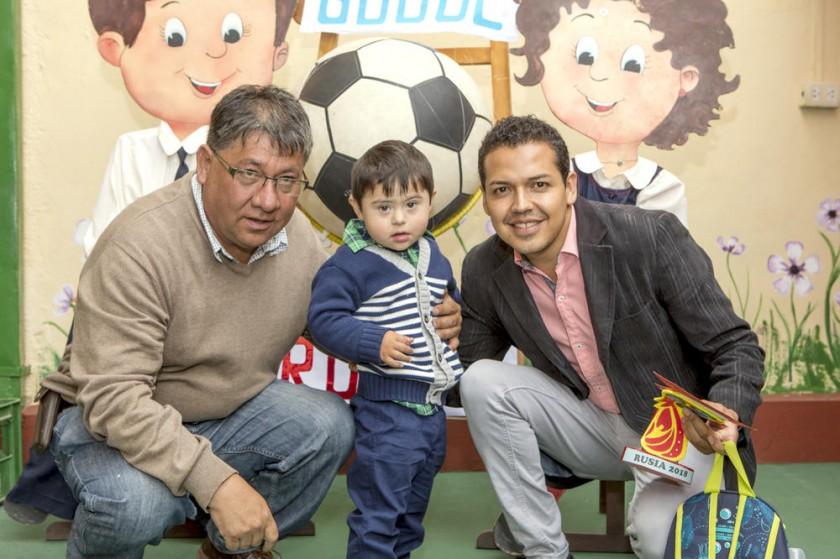 Efraín Vargas, Pablo Ignacio y Jorge Gonzáles.