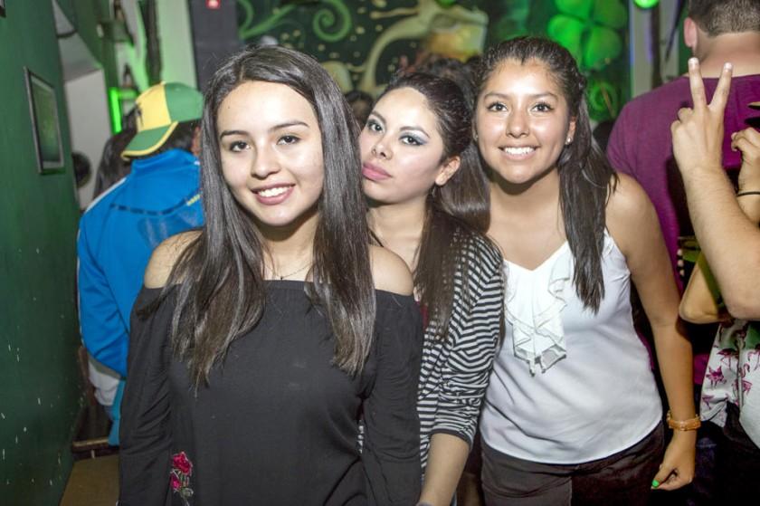 Emilie Ibarra, Noelia Párraga y Fabiana Huarachi.