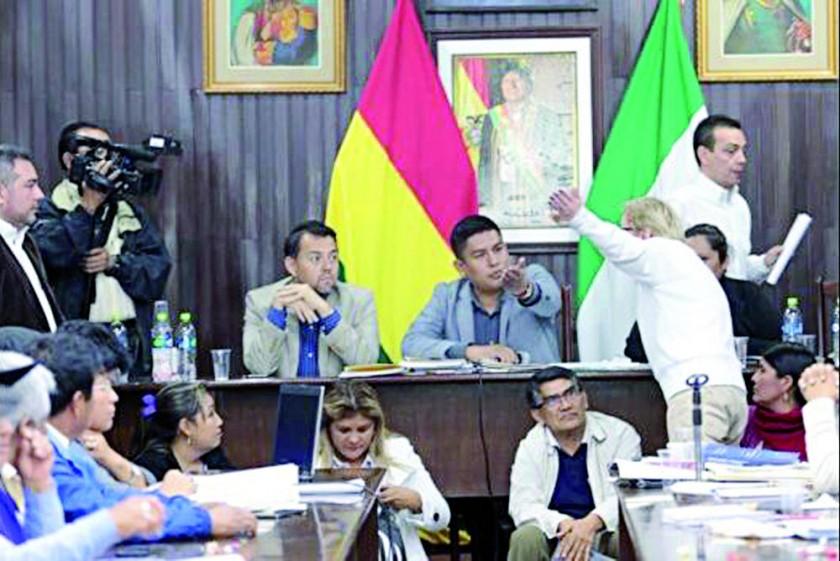 REUNIÓN. La reunión del Comité Cívico en Sucre.
