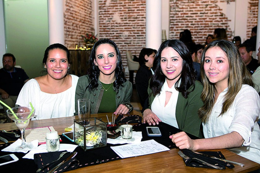 Carolina Torres, Andrea Ponce, Rebeca Mier y Andrea Palma.
