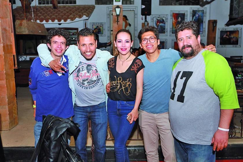 Alfredo Pierini, Álvaro Butrón, Mónica Mercado, Joaquín Vedia y Marcelo Meneses.