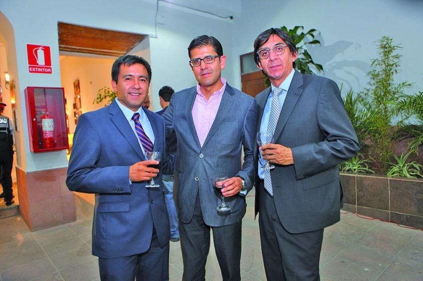 Rodrigo Arroyo, Franco Bohórquez y Juan Pablo Amusquivar.