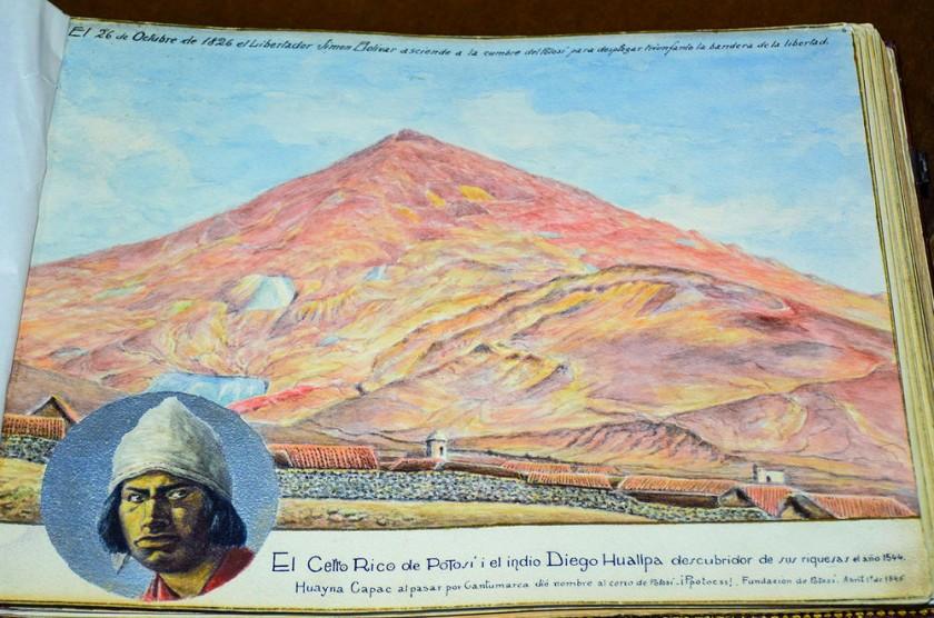 Diego Huallpa y el Cerro Rico.