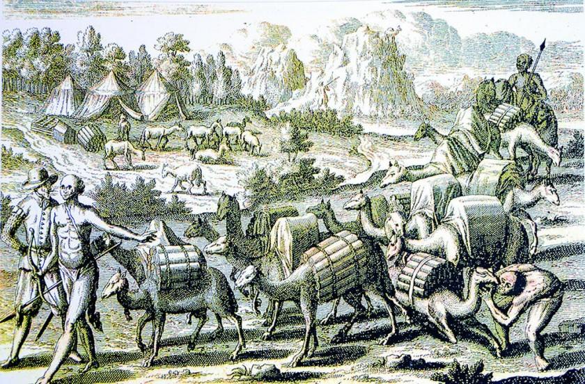 Traslado de barras de Plata desde Potosí.