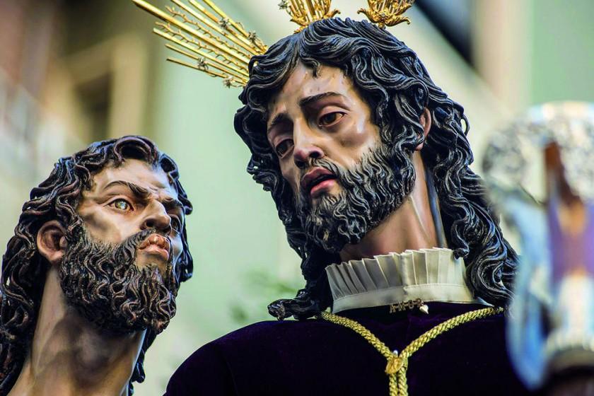 Procesión de la Ilustre Hermandad de Stmo. Sacramento y Cofradía de Nazarenos de Jesús del Perdón, Cristo del Amor...