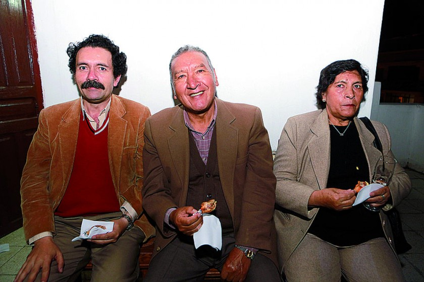 Ramiro Echazú, Eduardo Salinas y Dionisa Mújica.