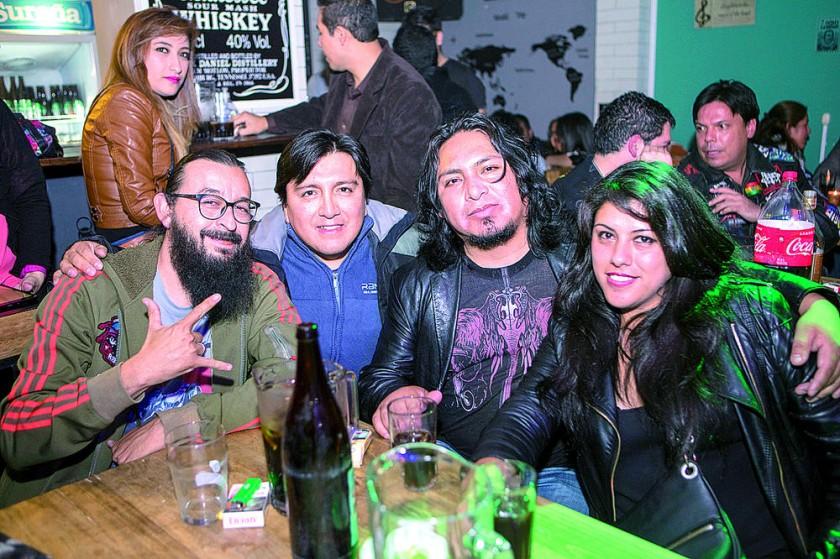 Miguel Ángel Caballero, Marcelo Murillo, Ronald Villegas y Samantha Arana.