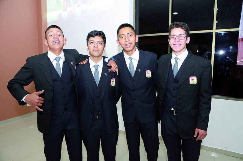 Ignacio Sotomayor, Dilan Aguilar, Sebastián Guerrero y Misael Ovando.