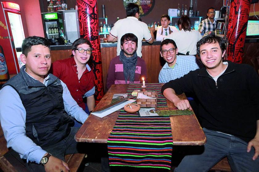 José Padilla, Daniel Hurtado, Germán Vacaflor, Hans Carmona y Alejandro Durán.