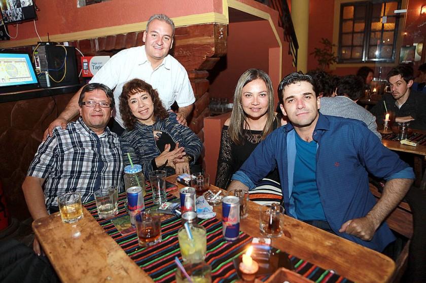 Fernando Ariñez, Juan Carlos Gorena, Milady Abuawad, Daniela Soruco y Gustavo Ávila.