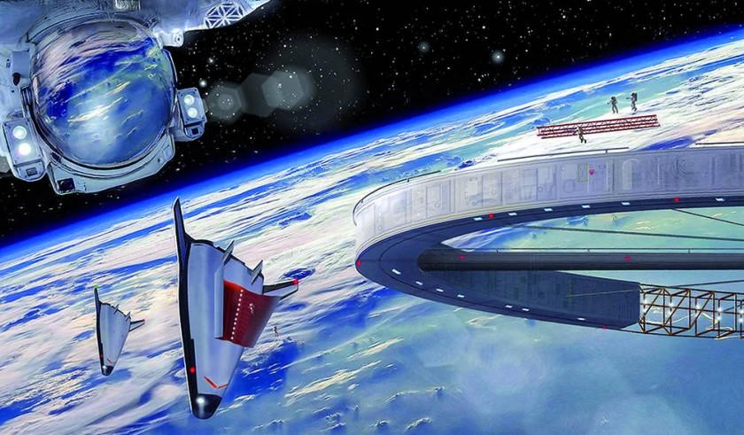 Recreación de cómo será el país de Asgardia en permanente órbita. Foto cedida por Asgardia