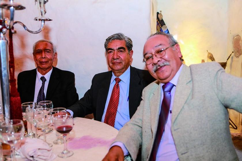 Gilberto Rengel, Simón Palacios y Mario Villalba.