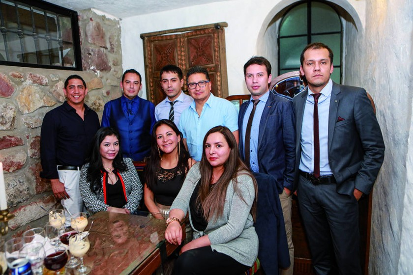 Arriba: Raúl Escobar, Nadir Salaues, Erika Solar y Carlos Poppe. Abajo: Aldo Mottura, Javier Cucchiaro, Javier Ruíz...