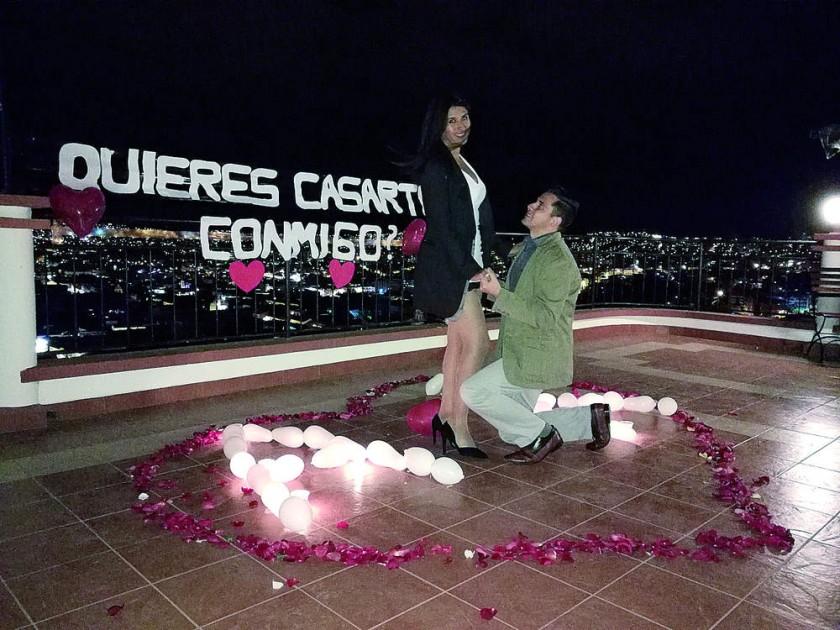 Araceli Marín y Kevin Revollo..