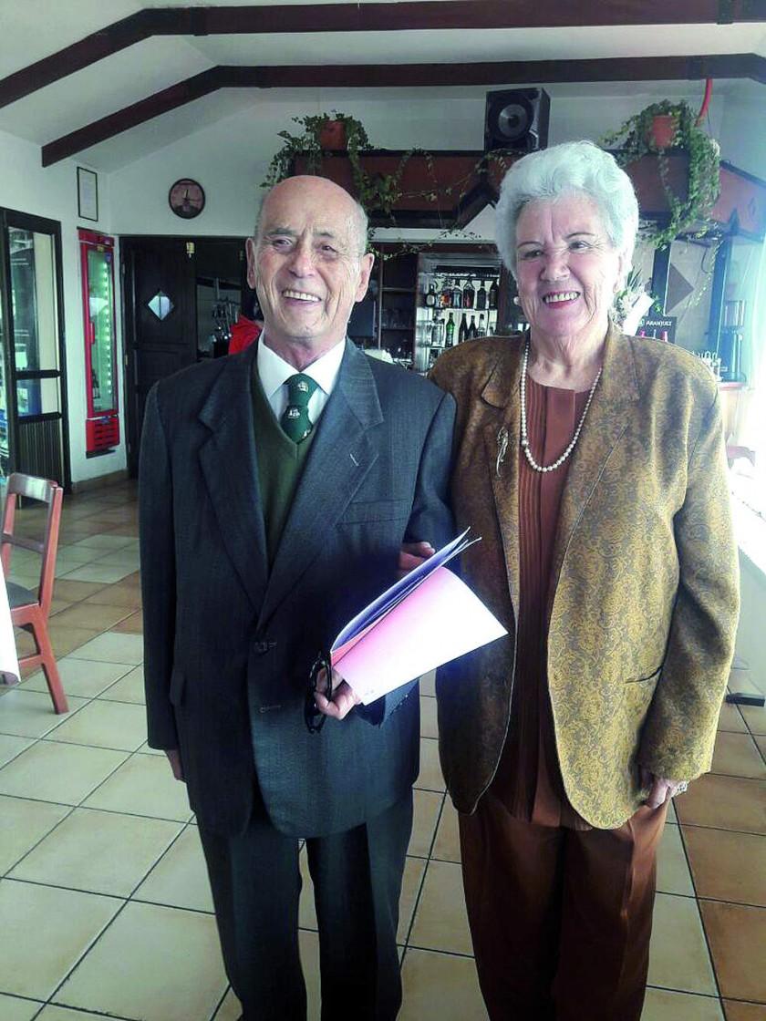 Marcelo Arana Ostria y María Raquel Urioste Prieto de Arana, después de 60 años de feliz y bendecido matrimonio.