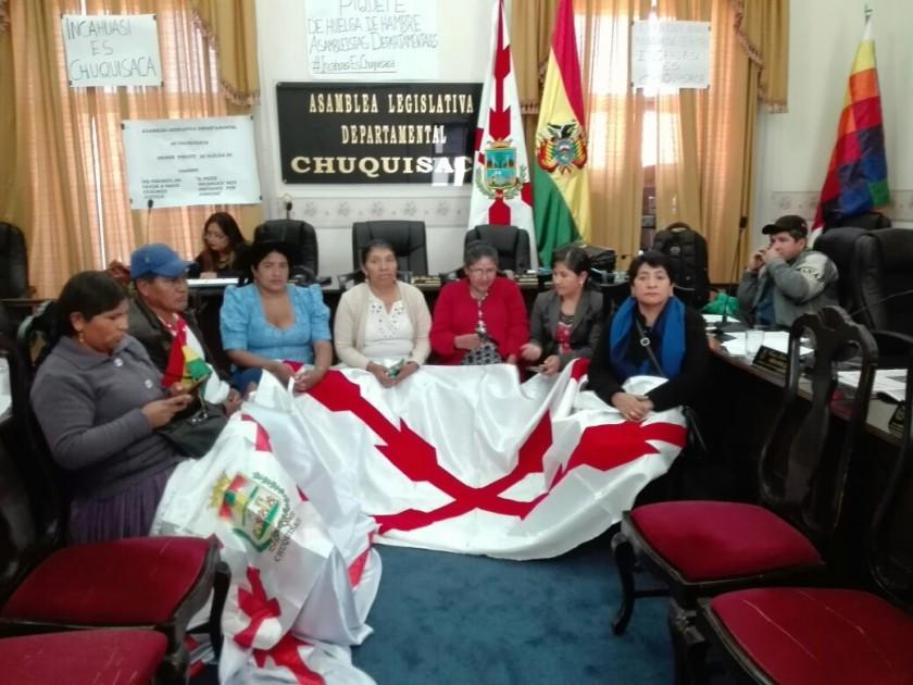 Asambleístas departamentales también respaldan las medidas por Incahuasi. Foto: Gentileza