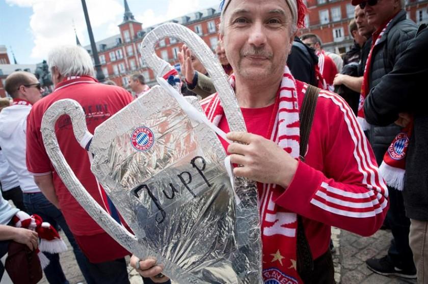 Seguidores del Bayern Múnich. FOTO: EFE