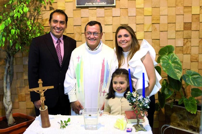 Álvaro Bravo, Enrique Quiroga, Victoria Bravo Gardeazábal  y Claudia Gardeazábal