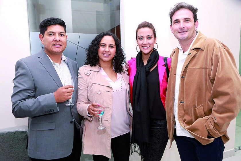 Marco Irusta, Carla Colque, Daniela Salinas y José Ávila.