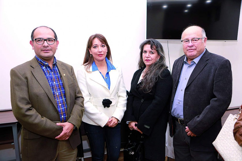 Tito Gonzales, Valeria Urquizu, Rosemary Calvo y Jaime Oña.