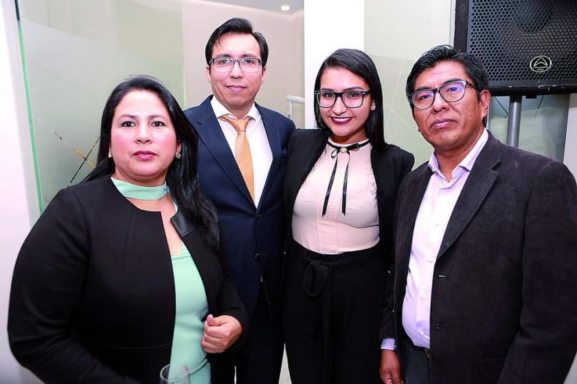 Gloria Mariscal, Aldo Bravo, Ana de la Barra y Henry Cruz
