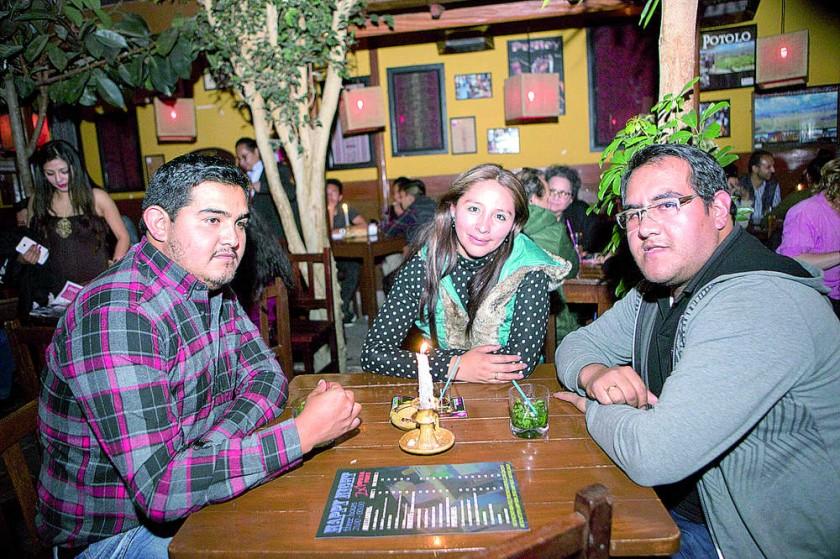 Franklin, Yessica y Ernesto.