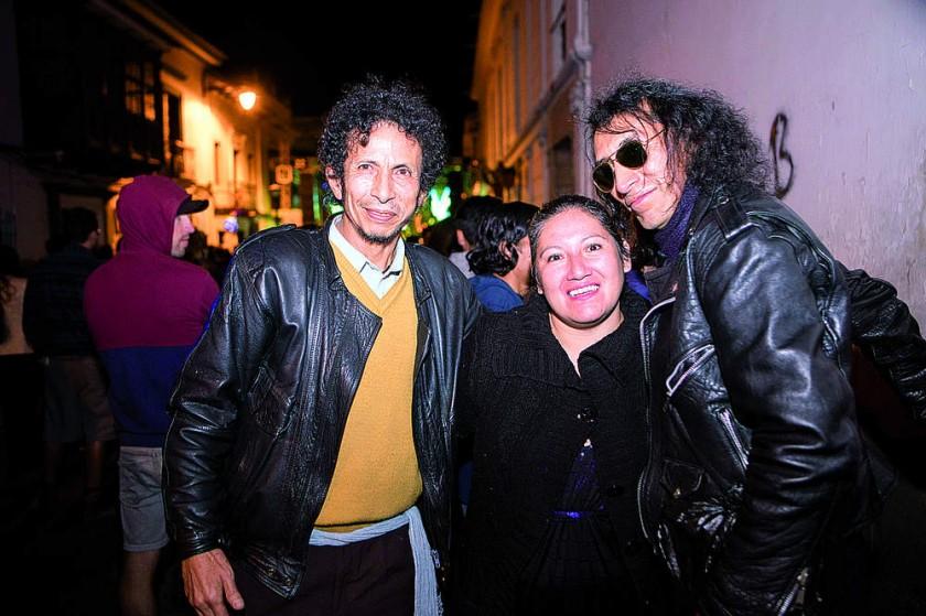 Hernán Padilla, Maritza Bayo y Julio Zelaya.