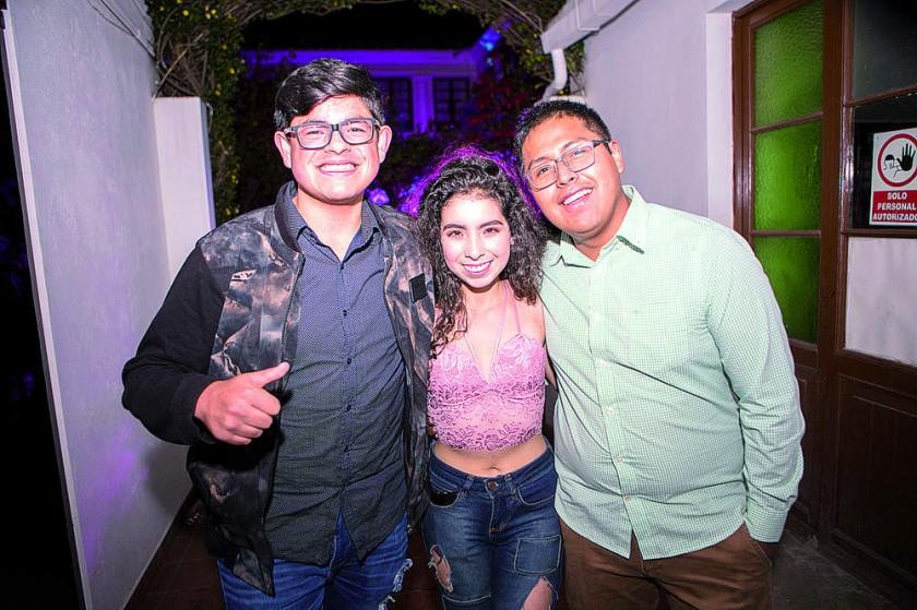 Camilo Molina, Briseyka Cuellar y Kevin Jorge.