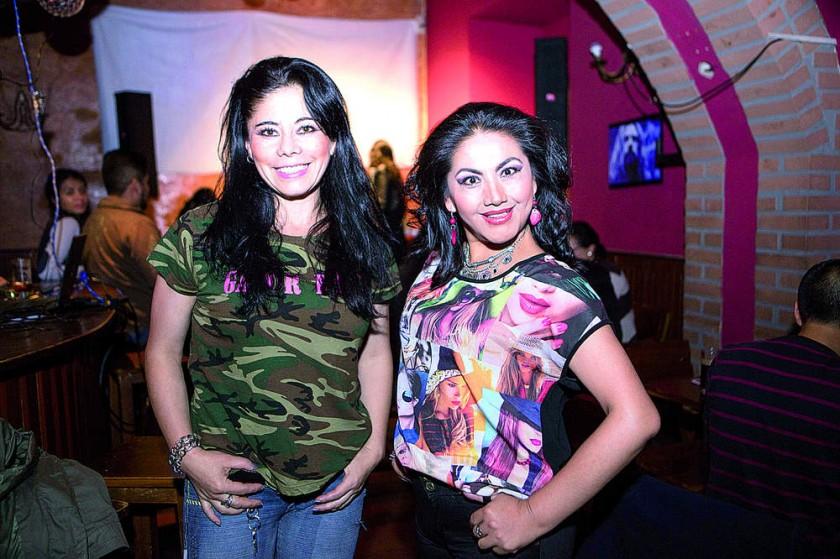 Sonia Dávalos y Ninoska Flores.
