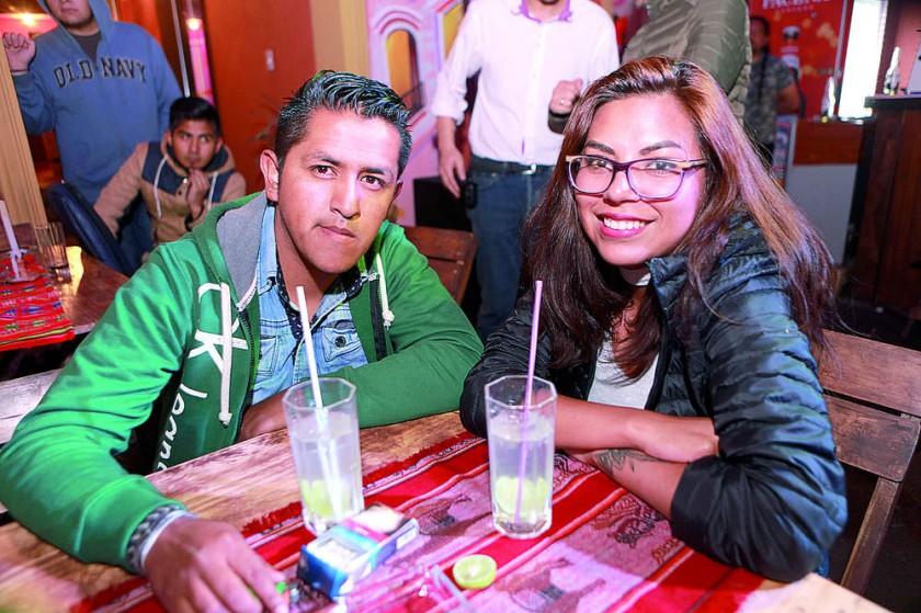 Ludwin Gemio y Pamela Ramírez.
