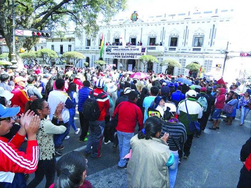 MEDIDAS. Las movilizaciones en fin de semana estuvieron comandadas por CODEINCA, la COD y San Francisco Xavier.