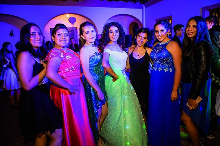 Priscila Arduz, Luciana Coronado, Valeria Rojas, Sofía Álvarez, Amaya Viscarra, Laura Ruiz y Laura Rodas.