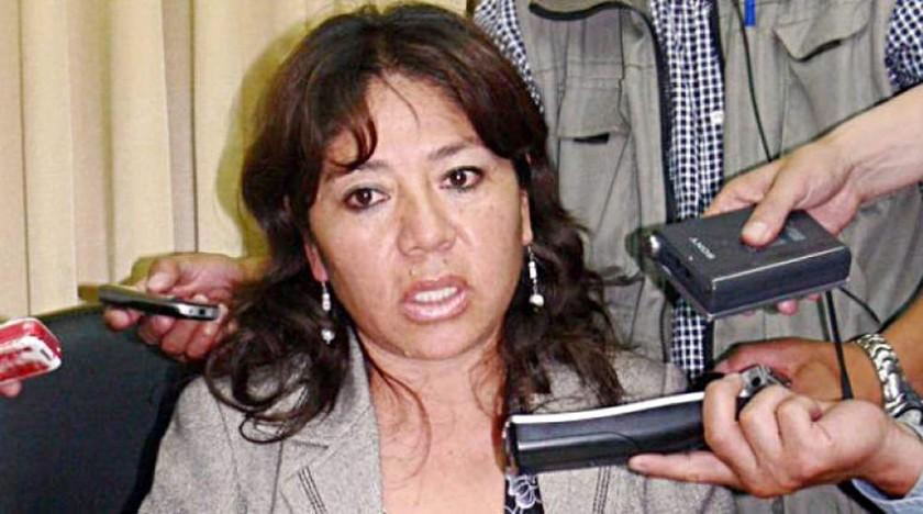 SUSTITUCIÓN.  La  ex alcaldesa de Sucre, Verónica Berríos, quien sustituyó a Jaime Barrón.