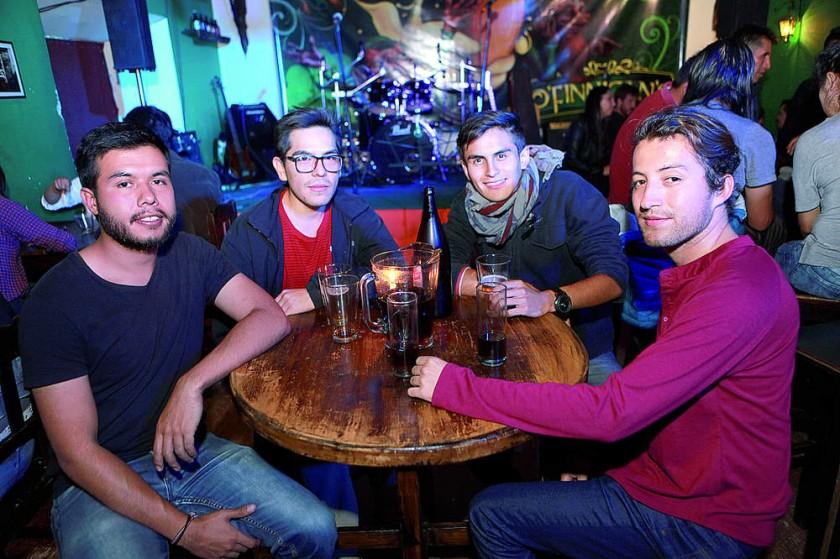 Miguel Rendón, Julio Guzmán, Andrián Adamsick y Adrián Miramendy.