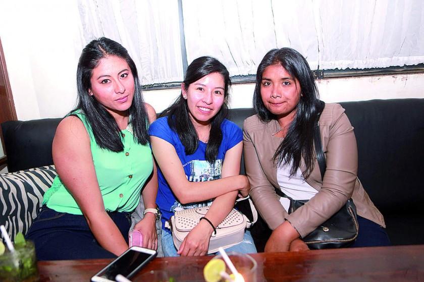 Nadir, Soledad y Sonia.
