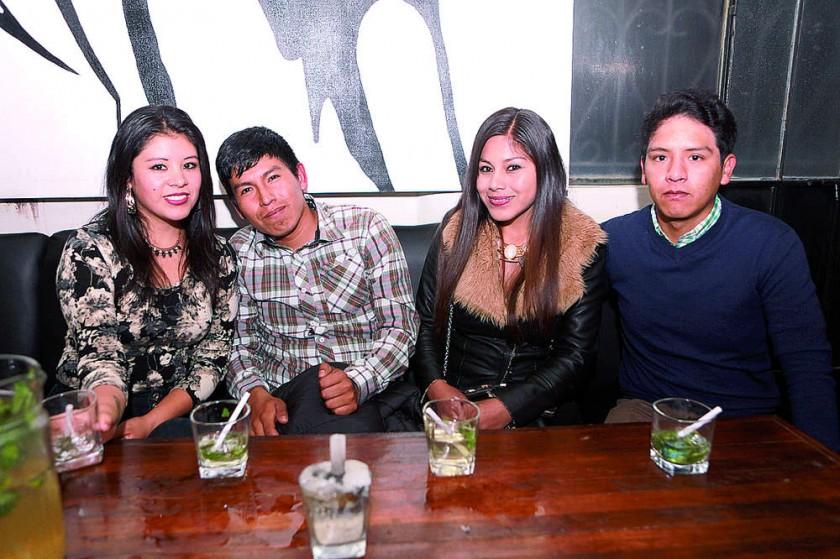 Miriam Rocha, David Quispe, Judith Flores y Marbel Bernal.