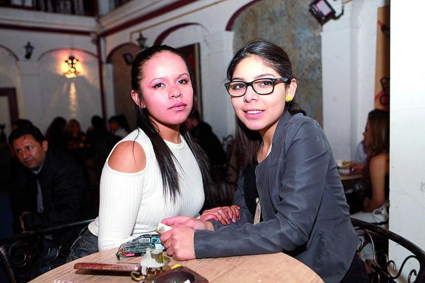 Alejandra Chambi y Michel Flores.