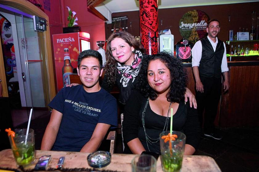 Farid Aparicio, Jimena Salazar y Lía Campos