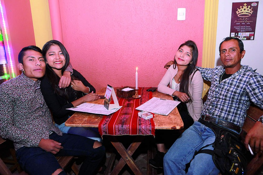 William, Genaira, Ained y Pepe.